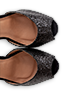 black-glitter-sandals